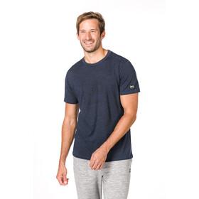 super.natural Essential I.D. T-Shirt Men navy blazer melange/jet black logo